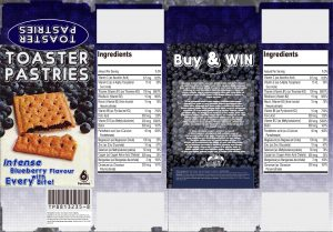 TheVilla_Blueberry Toaster Pastries Prop